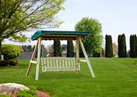 Outdoor Furniture - Wood English Garden Swing w Canopy