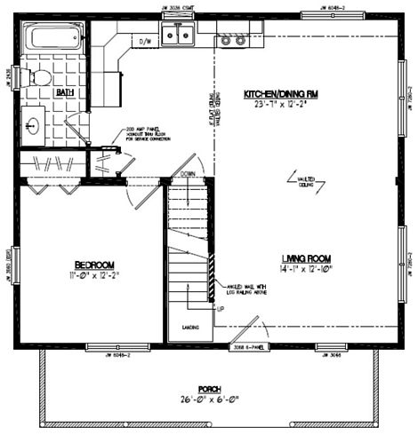 Mountaineer Deluxe Floor Plan #26MD1401