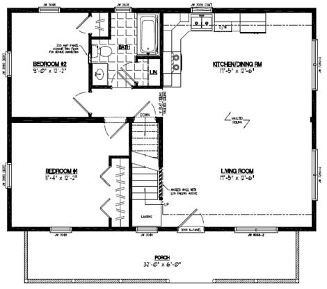 Mountaineer Deluxe Floor Plan #26MD1402