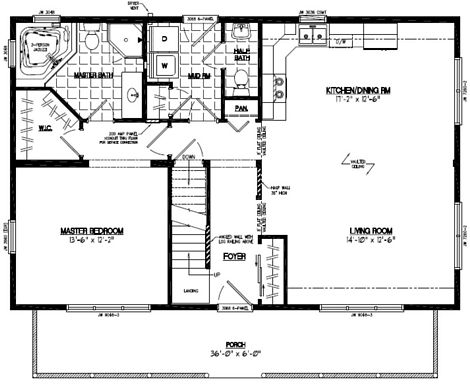 Mountaineer Deluxe Floor Plan #26MD1403
