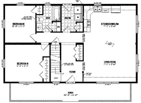 Mountaineer Deluxe Floor Plan #26MD1404