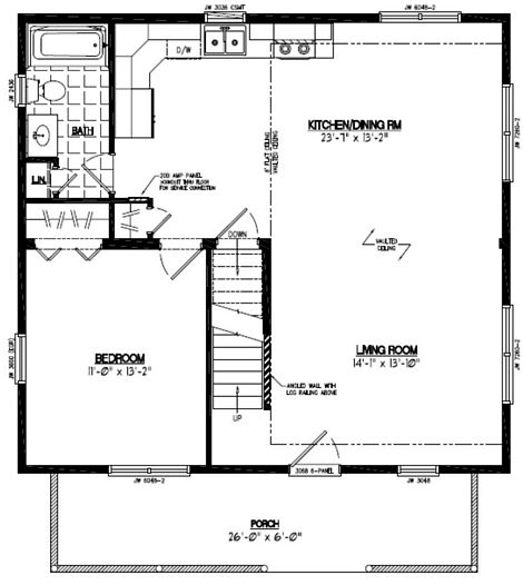 Mountaineer Deluxe Floor Plan #28MD1401