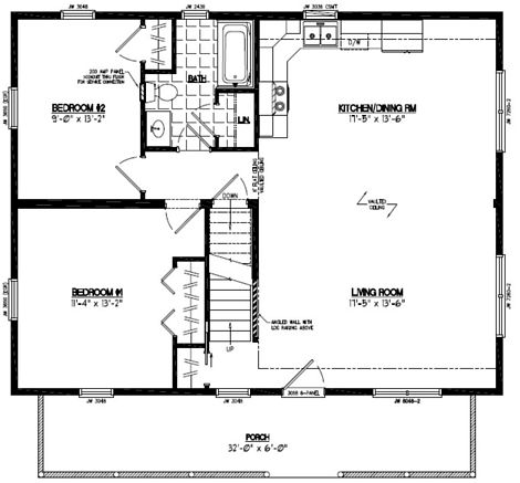 Mountaineer Deluxe Floor Plan #28MD1402
