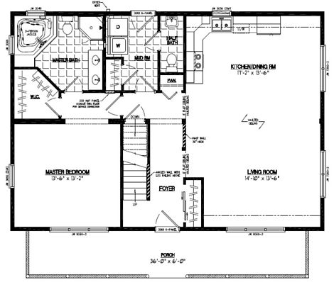Mountaineer Deluxe Floor Plan #28MD1403