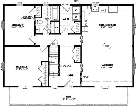 Mountaineer Deluxe Floor Plan #28MD1404