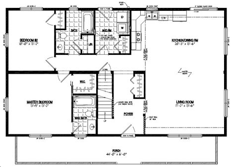 Mountaineer Deluxe Floor Plan #28MD1405