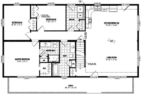 Mountaineer Deluxe Floor Plan #28MD1407