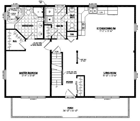 Mountaineer Floor Plan #28MR1303