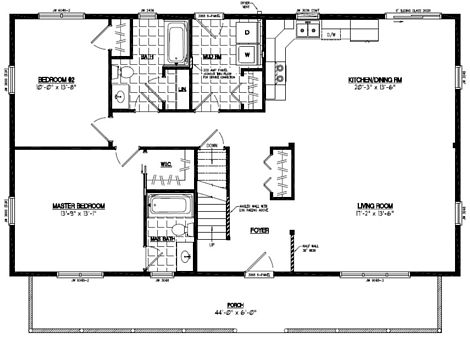 Mountaineer Floor Plan #28MR1305