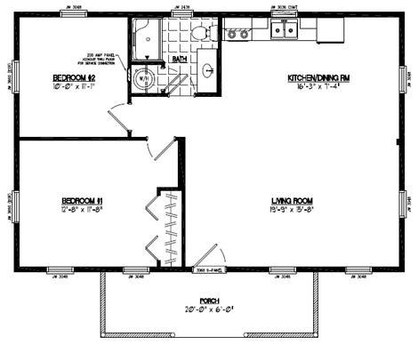 Pioneer Floor Plan #24PR1202