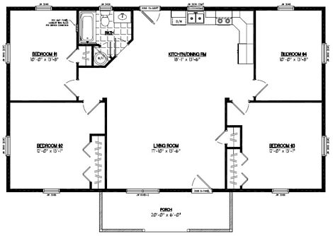 Pioneer Floor Plan #28PR1204