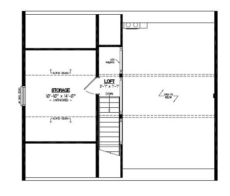 Certified Floor Plan - Mountaineer Deluxe Upstairs Floor Plan #26MD1401 - 26 x 30