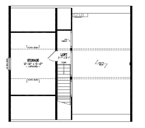 Certified Floor Plan - Mountaineer Deluxe Upstairs Floor Plan - #28MD1401 - 28 x 30