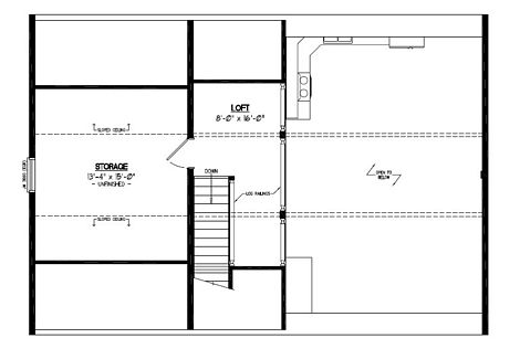 Certified Floor Plan - Mountaineer Deluxe Floor Plan Upstairs #28MD1403 - 26 x 40