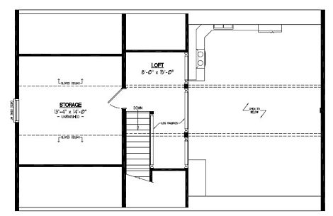 Certified Floor Plan - Mountaineer Deluxe Upstairs Floor Plan #26MD1403 - 26 x 40