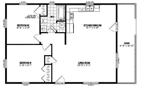Certified Floor Plan - Settler Certified Floor Plan - 26 x 42 - #26SR504