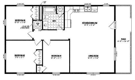 Certified Floor Plan - Settler Certified Floor Plan - 26 x 48 - #26SR505