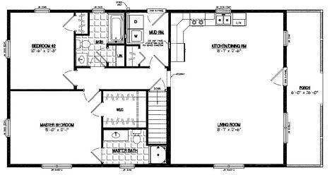 Certified Floor Plan - Settler Certified Floor Plan - 26 x 52 - #26SR506