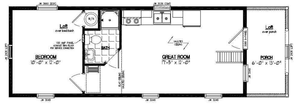 13x40 Adirondack Certified Floor Plan 13ar803 Custom