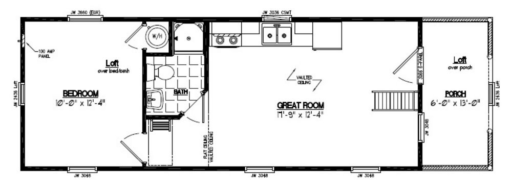 13×40 Adirondack Recreational Floor Plan #13AR803 ...