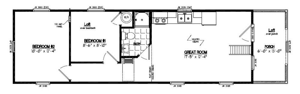 Recreational Cabins | Recreational Cabin Floor Plans