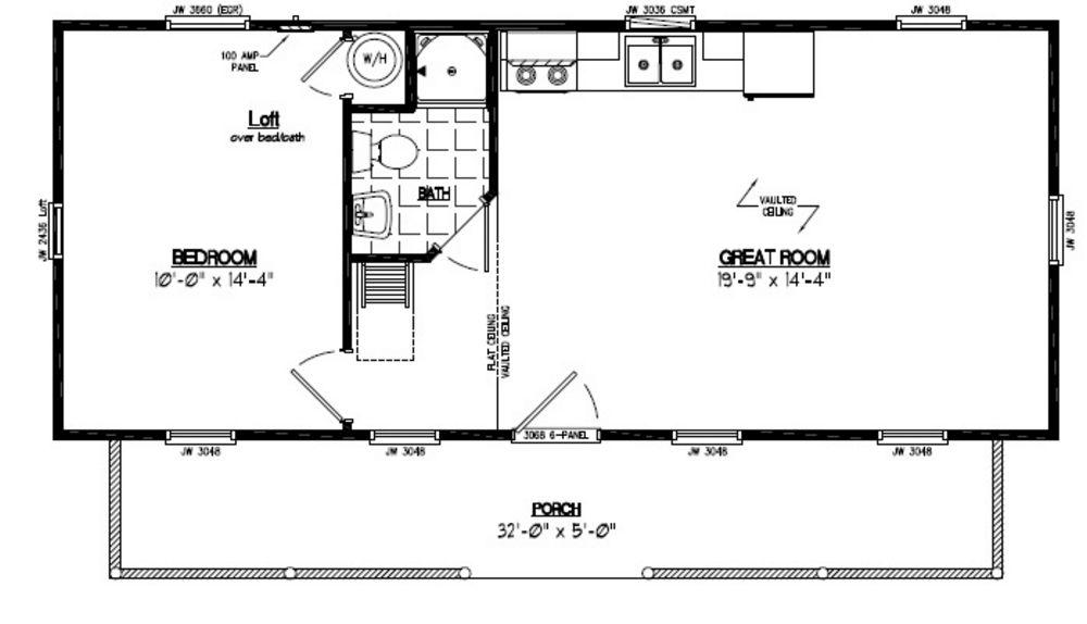 Recreational cabins recreational cabin floor plans for 32 x 40 home plans