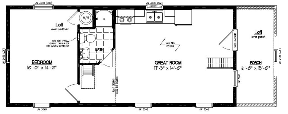 ... Floor Plan #15AR803 - Custom Barns and Buildings - The Carriage Shed