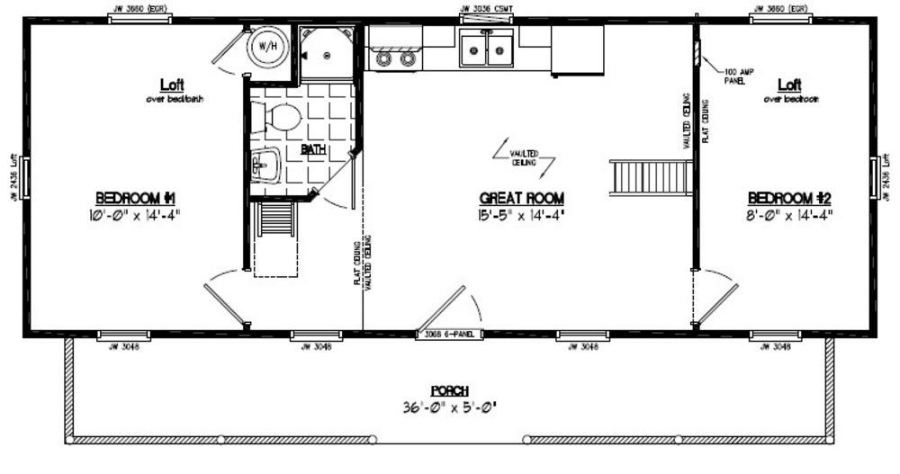 15x40 Cape Cod Recreational Floor Plan #15CA705 - Custom ...