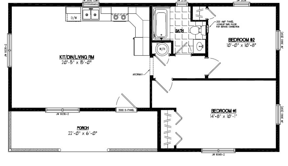 Frontier homes floor plans house design plans for Frontier plans