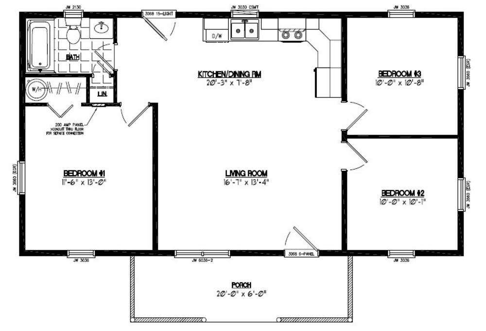Floor plans for cabin 24 x32 joy studio design gallery for 32 x 40 home plans