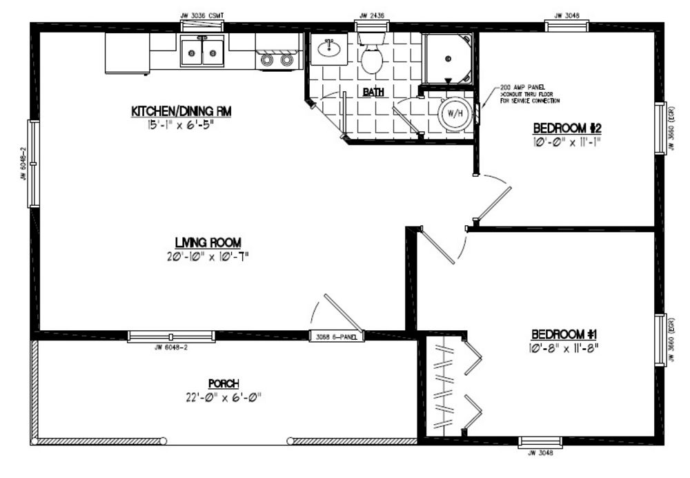 Certified homes frontier style certified home plans for 24 x 40 floor plans