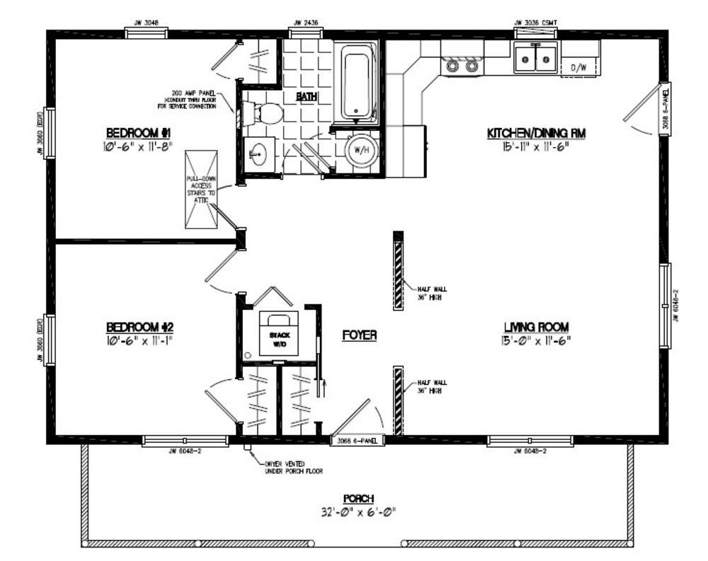 24x36 Musketeer Certified Floor Plan #24MK1502