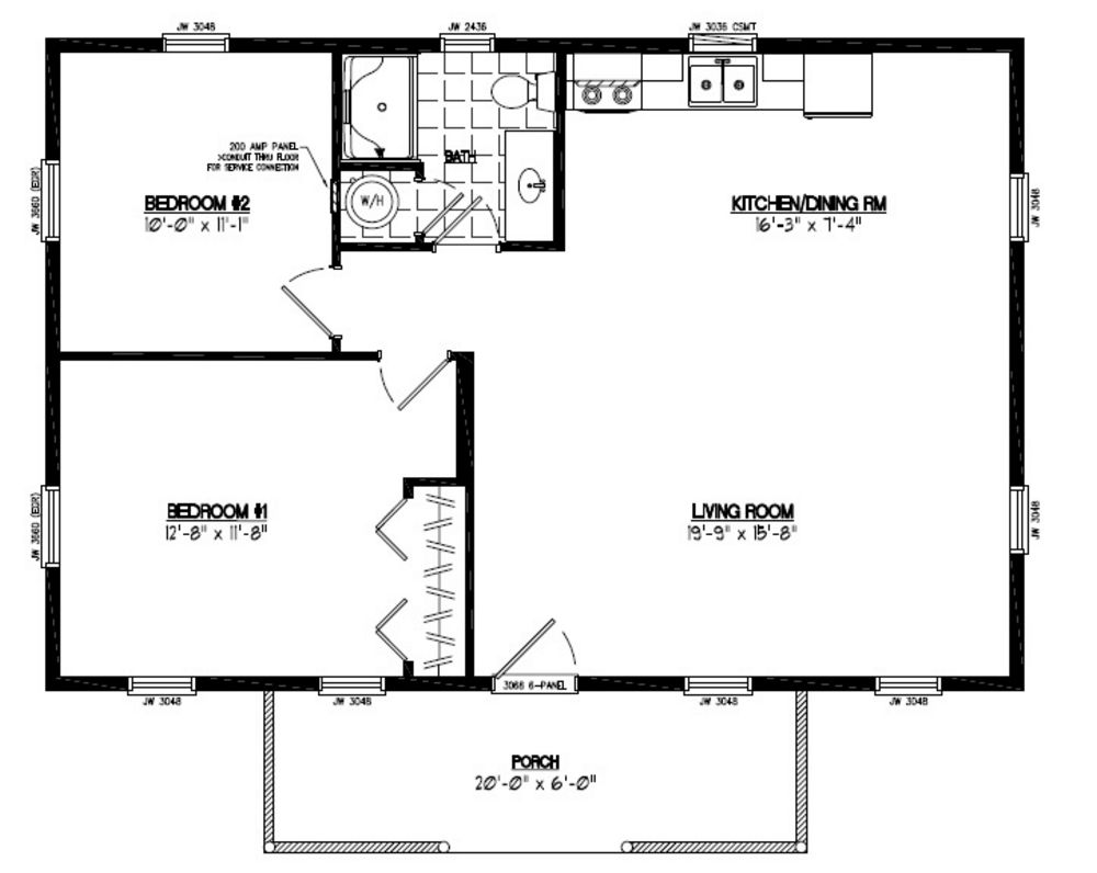Certified floor plan pioneer floor plan 24pr1202 24 for 24 x 40 floor plans