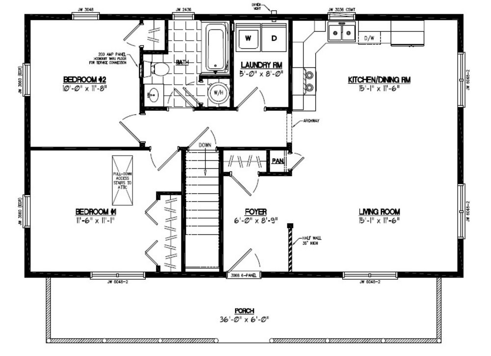 Certified homes musketeer certified home floor plans for 24 x 40 floor plans