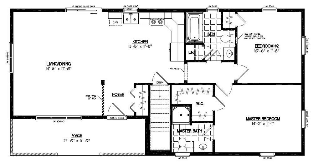 House plans 22 x 40 joy studio design gallery best design for 24 x 40 floor plans