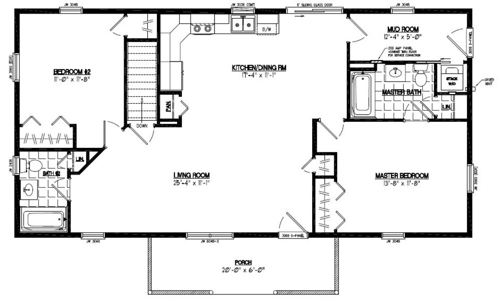 24 x 48 home plans for 24x36 ranch house plans