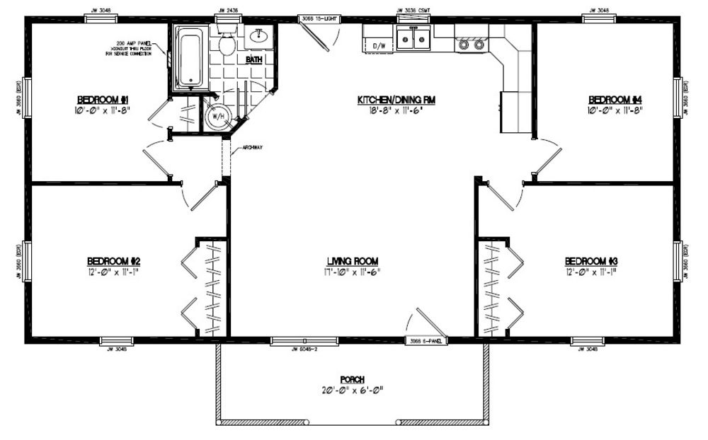 24 x 48 home plans for 28x40 house plans