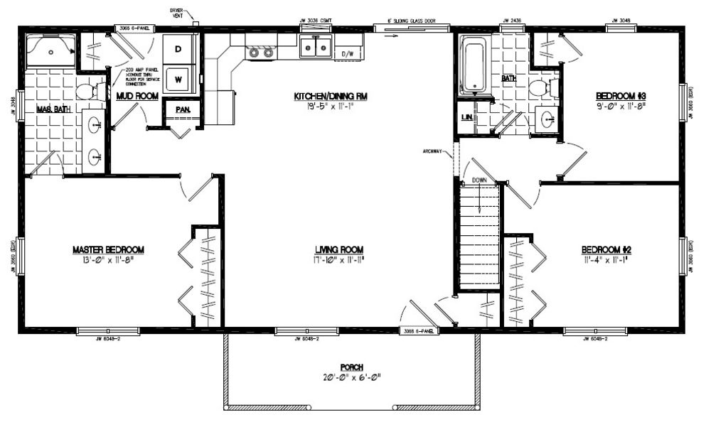 Certified floor plan pioneer floor plan 24pr1207 24 for 24 x 40 floor plans