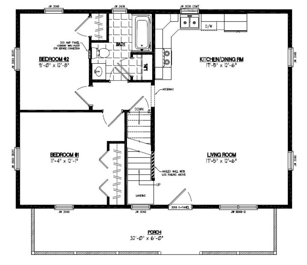 26x36 mountaineer certified floor plan 26mr1302 custom for Carriage rv floor plans