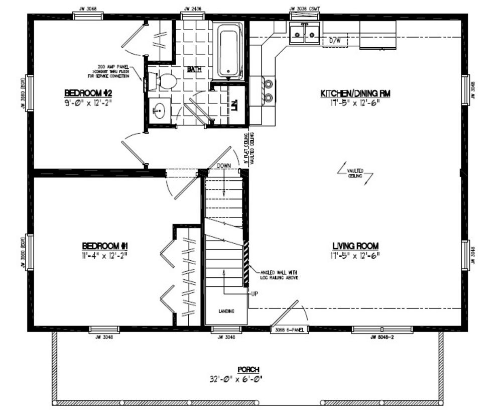 24 x 36 cape house plans for 32 x 40 home plans