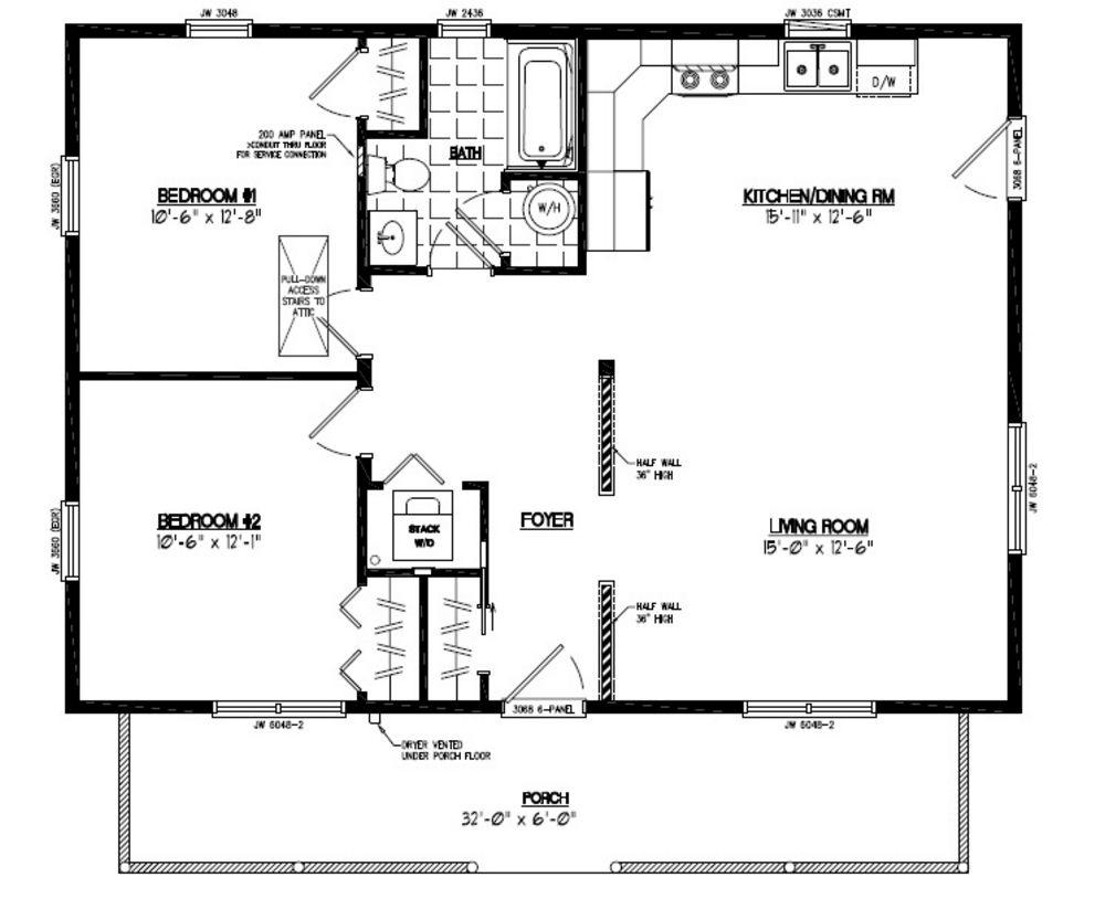 26x36 Musketeer Certified Floor Plan 26mk1502 Custom