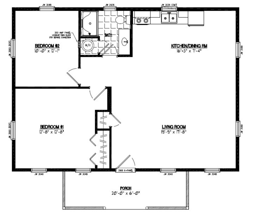 24 x 36 garage floor plans pictures to pin on pinterest for 26 x 36 garage
