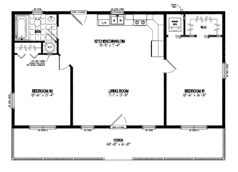 24 x 40 house plans for 24 x 40 floor plans