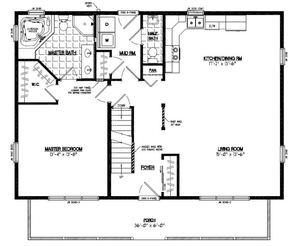 plan de maison 28 x 40