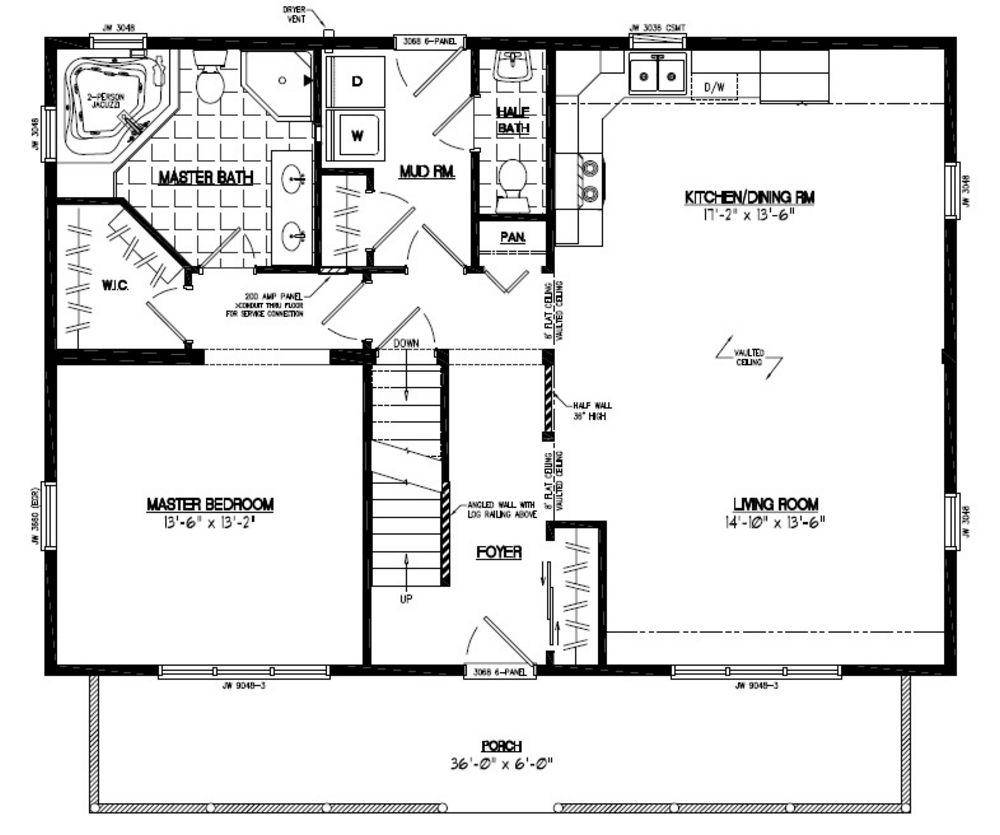 28x40 Mountaineer Deluxe Certified Floor Plan 28md1403