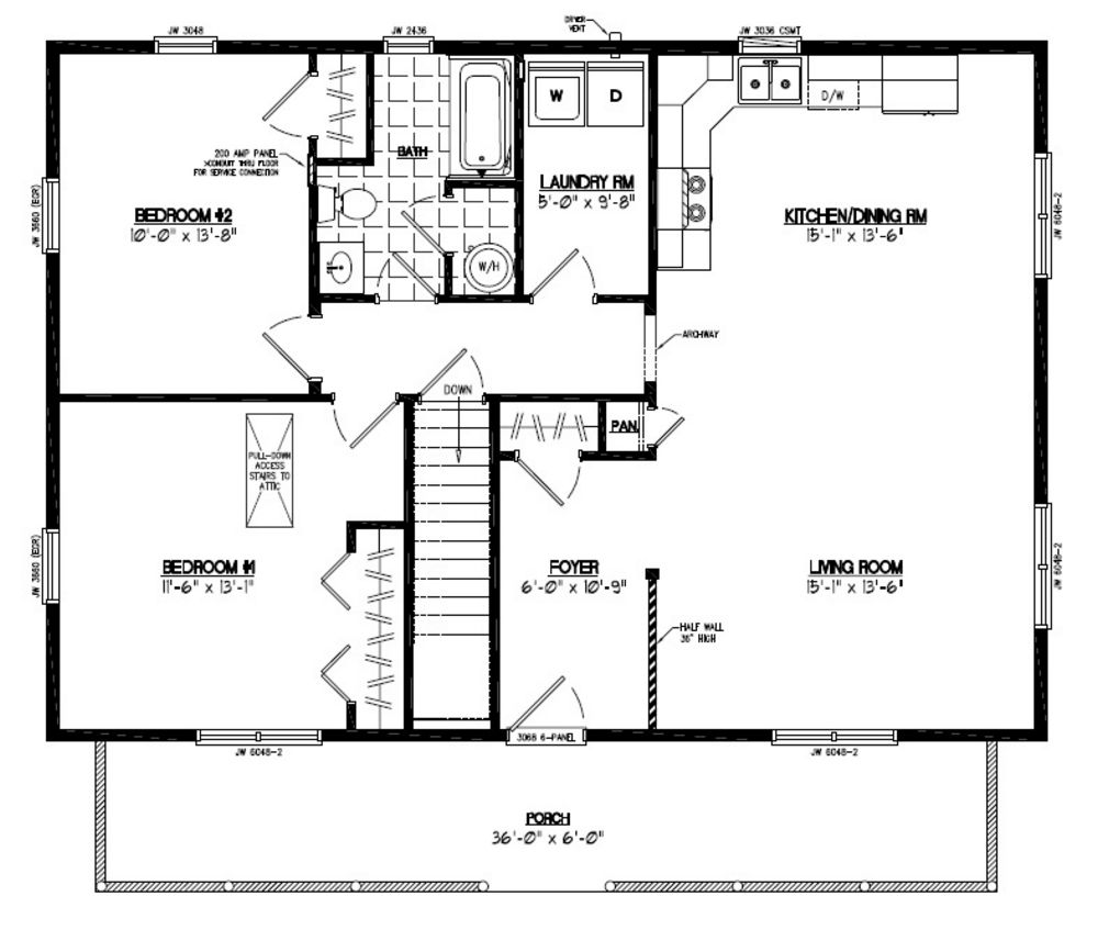 Certified homes musketeer certified home floor plans for 40x36 garage