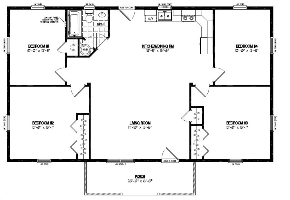 Floor plans 40 x 40 28 images two story craftsman for 24 x 40 floor plans