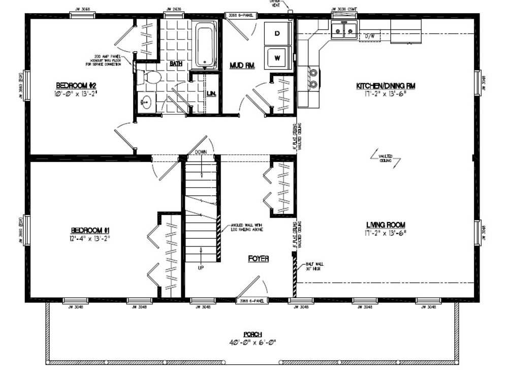 28 X 44 House Plans And Home Design