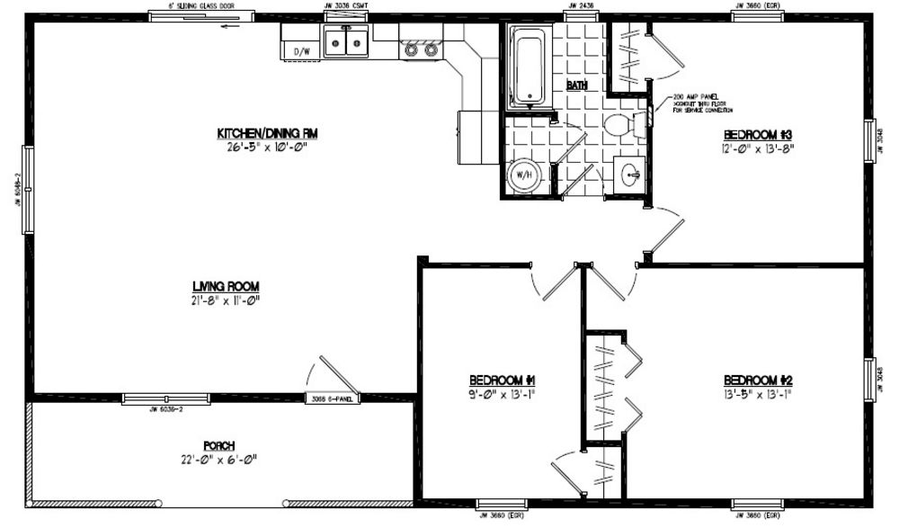 Certified homes frontier style certified home plans for 28x48 house plans