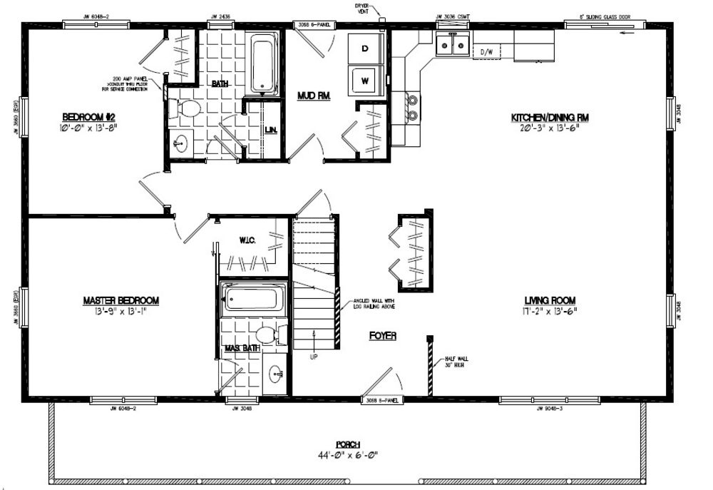 A Frame Cabin Plans 2 Bedroom A Frame Cabin Plans Free Do: 28x48 Mountaineer Certified Floor Plan #28MR1305